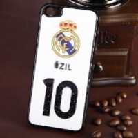 MagicPieces Plastic Snap on Case with Shaking Rhinestones for iPhone FIFA World Cup 2014 Ozil 10 for iPhone5 Color Black DP 0507