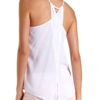 Crossover-Back Chiffon Tank Top by Charlotte Russe