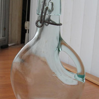Vintage glass bottle with handle and swing top 200 ml