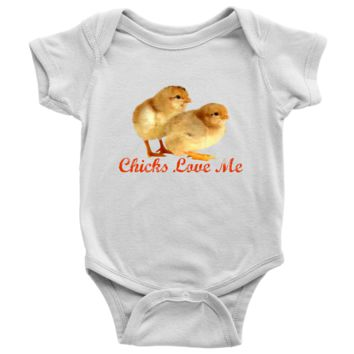 Chicks Love Me Baby Onesuit