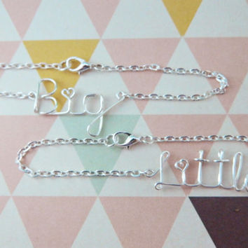 Sorority Set of Two Big and Little Sister Wire Bracelets