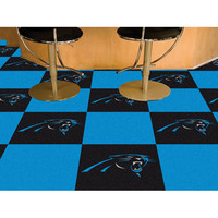 Fan Mats 8549 NFL Carolina Panthers 18-Inch Carpet Tiles - (In Square)