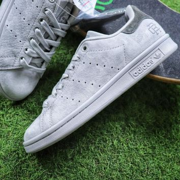 Sale Reigning Champ x Adidas Stan Smith 3M Grey Suede Sport Shoe b32431841c49