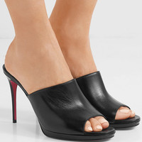 Christian Louboutin - Pigamule 100 leather mules
