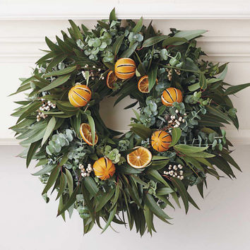 Organic Orange Eucalyptus Wreath