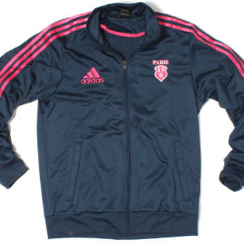 adidas Stade Francais Retro Track Jacket Navy/Stade Pink Rugby Clothing, $33.99