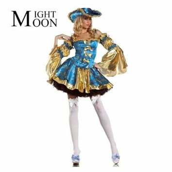 MOONIGHT New Hot Popular High Quality Carnival Queen Costume Beautiful Rogue Sexy Pirate Costume Macchar Cosplay Catalogue