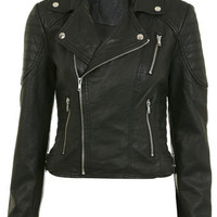 Petites Biker Stitch Jacket - Coats & Jackets  - Apparel