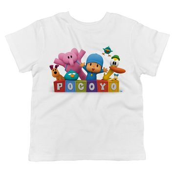 Pocoyo - Pocoyo, Elly, Loula, Pato and Sleepy Bird Toddler 100% Cotton T-shirt