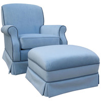 Angel Song 201021150Down Classic Velvet Blue Adult Club Rocker Glider