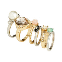 H&M - 6-pack Rings - Gold/Silver - Ladies