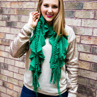 All The Frills Scarf - Green