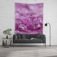 Drops in feathers Wall Tapestry by vanessagf