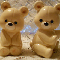 Vintage Teddy Bear Salt and Pepper Shakers by Norcrest