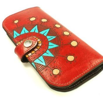 Wallet Leather Sunny Red by rntn on Etsy