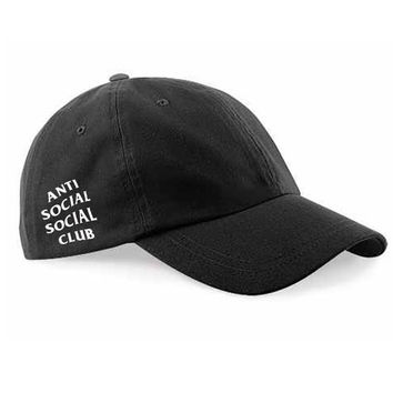 Anti Social Social Club Hat Dad Hat Black