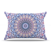 "Iris Lehnhardt ""Summer Lace II"" Circle Purple Pillow Sham"