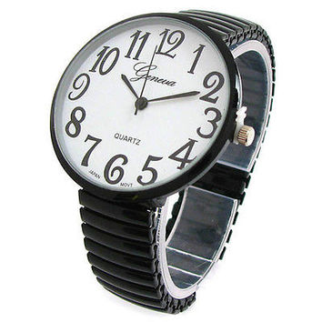 New Geneva Super Large Face Stretch Band Fashion Watch