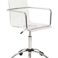 Crystal Clear Office Chair ACRYLIC/CHROME