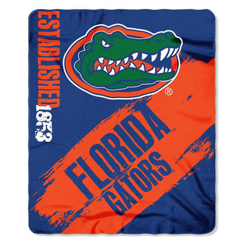 Florida Gators NCAA Light Weight Fleace Blanket (Paint Series) (50inx60in)