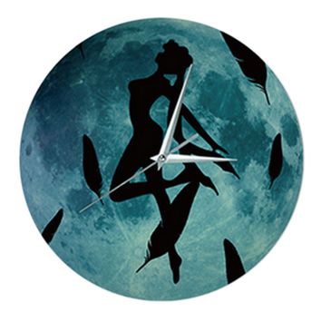 Noctilucent Wolf Simple Wall Clock   cartoon figure