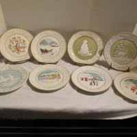 Songs of Christmas collectors plates limited edition Vernon ware Metlox Potteries USA lot of 8