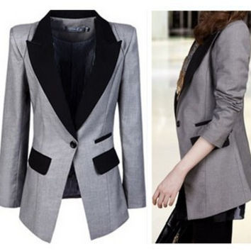 2016 Fashion Leisure blazer women small suits feminino suits for women blazer jackets blaser feminino jacket coat women 3xl-xxxl