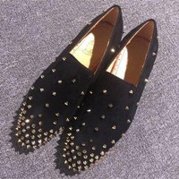 DCCK2 Cl Christian Louboutin Loafer Style #2365 Sneakers Fashion Shoes