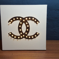 Chanel logo LED lighting frame