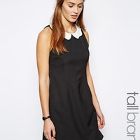 Glamorous Tall Shift Dress With Scallop Collar