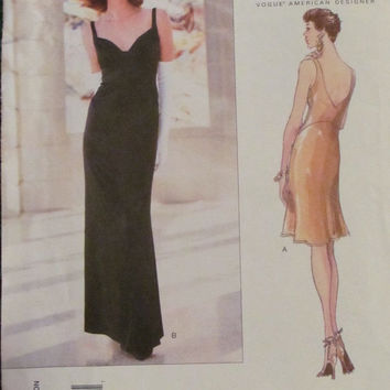 SALE Uncut Vogue Sewing Pattern, 1806! Size 14-16-18 Women's/Misses Medium/Large/XL, Summer/Spring Formal/Prom/Evening Dress/Gown/wedding