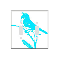 Double or Single Light Switch Cover Silhouette Of A Bird Choose a Color