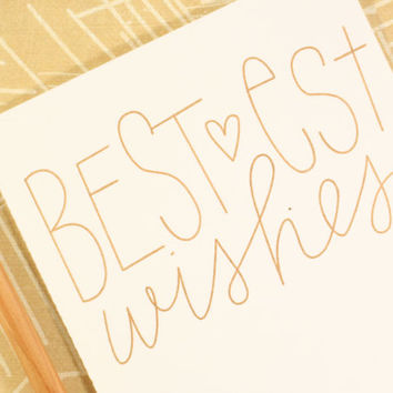 Bestest Wishes Card, Stationary, Congratulation, Thinking of You, Good Luck, Graduation, Just Because