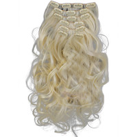 7pcs Suit Clips in Hair Extension Curled Wig Piece   613