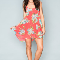 Show Me Your Mumu ~  Bella Dress ~ Coral Hello Hydrangea