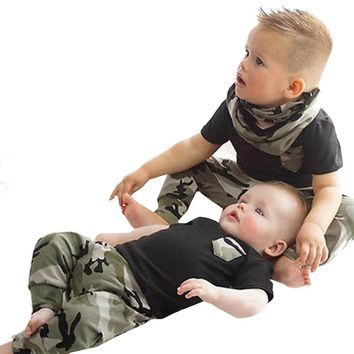 Baby Boy Camouflage 2pc. Outfit