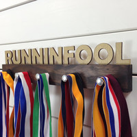 Runninfool Running Medal Display by PineconeHome on Etsy