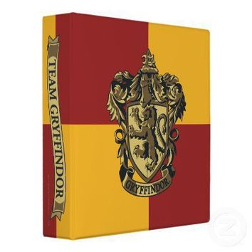 Gryffindor Crest Gold and Red Binder from Zazzle.com