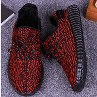 """Adidas"" Women Yeezy Boost Sneakers Running Sports Shoes Red"