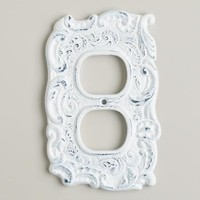 White Cast Iron Outlet Plate - World Market