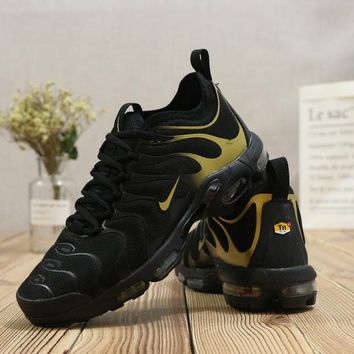 Nike Air Max AirMax Plus Tn Ultra Black Gold Running Shoes - Best Deal Online
