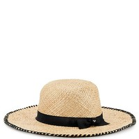 Tory Burch Whipstitch Wide-brim Hat
