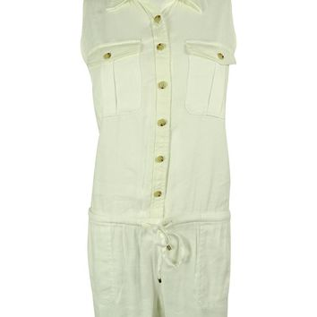 Ralph Lauren Women's Sleeveless Linen Blend Romper