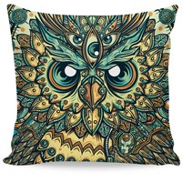 God Owl of Dreams Couch Pillow