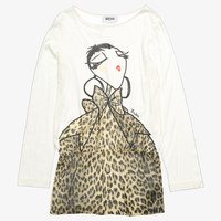Moschino Girls Graphics Maxi Tee  -  HDM002 - FINAL SALE