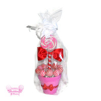 Pink and Red Valentine's Lollipop Arrangement, Valentines Day, Valentine's Day, Vday, Candy Arrangement, Candy, Lollipop, Centerpiece