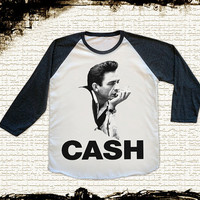 Size S -- JOHNNY CASH Shirts Country Rock And Roll Shirts Baseball Shirts Jersey Raglan Shirts Long Sleeve Unisex Shirts Women Shirts