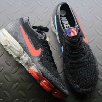 Best Online Sale Nike Air VaporMax Vapor Max 2018 Flyknit Men American Flag Sport Running Shoes 849558-018