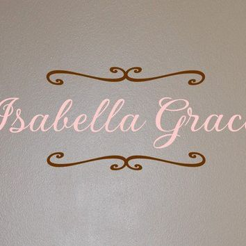Isabella Monogram  Vinyl Wall Decal by homesweetwalls on Etsy