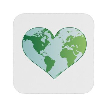 World Globe Heart Coaster